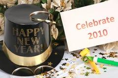 Vier het Nieuwjaar Stock Foto