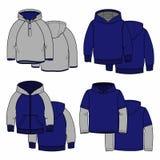 Vier hoodies Stock Foto