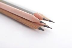 Vier houten potloden Stock Fotografie
