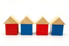 Vier huizen Royalty-vrije Stock Afbeelding