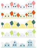Vier huizen vector illustratie