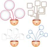 Vier Ideendiagramme Stockfoto