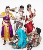 Vier Indische klassieke dansers Royalty-vrije Stock Afbeelding