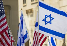 2015 vier Israel Parade in de Stad van New York Royalty-vrije Stock Foto's