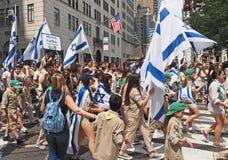 2015 vier Israel Parade in de Stad van New York Stock Foto