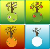 Vier Jahreszeiten vektor abbildung