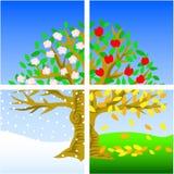 Vier Jahreszeiten lizenzfreie abbildung