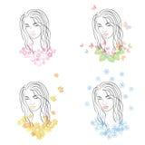 Vier Jahreszeiten - Frühling, Sommer, Herbst, Winter vektor abbildung
