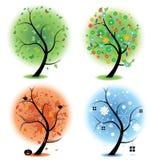 Vier Jahreszeiten - Frühling, Sommer, Herbst, Winter Kunst Lizenzfreies Stockfoto