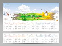 Vier Jahreszeiten Kalender 2018 Lizenzfreie Stockfotografie