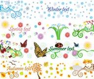 Vier Jahreszeiten vector Hintergrund Stockfoto