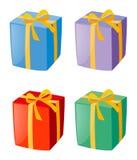 Vier Kästen Geschenke Stockfoto