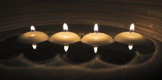 Vier kaarsen Stock Foto's