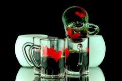 Vier Kaffeeschüsse Lizenzfreie Stockbilder
