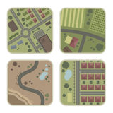 Vier Karten Stockfoto