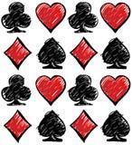 Vier Kartenklagen Kartensatzmuster Lizenzfreie Stockfotos