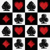 Vier Kartenklagen Kartensatzmuster stock abbildung