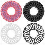 Vier Keltische cirkels Stock Afbeeldingen