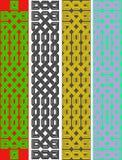 Vier Keltische knoopgrenzen Stock Foto