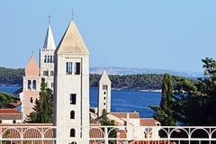 Vier kerken op eiland Rab Royalty-vrije Stock Afbeeldingen