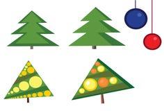Vier Kerstbomen Stock Fotografie