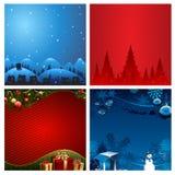 Vier Kerstmis vectorillustratie Als achtergrond Royalty-vrije Stock Afbeelding