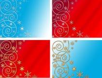 Vier Kerstmisachtergronden Royalty-vrije Stock Foto's
