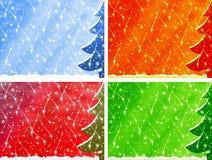 Vier Kerstmisachtergronden Royalty-vrije Stock Afbeelding
