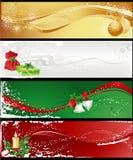 Vier Kerstmisbanners Royalty-vrije Stock Afbeeldingen
