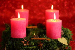 Vier Kerzen Stockfoto
