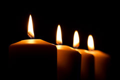 Vier Kerzen Stockbild