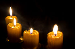Vier Kerzen Stockfotos