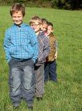 Vier Kinder Lizenzfreies Stockfoto