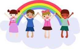 Vier Kinder Lizenzfreie Stockfotografie
