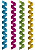 Vier kleurden etiketten Stock Afbeelding