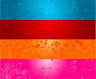 Vier kleuren grunge banners vector illustratie