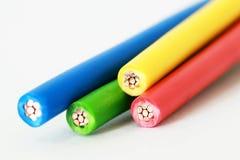 Vier kleuren van kabel Royalty-vrije Stock Foto's