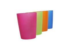 Vier kleurenglas, ondiepe dof Royalty-vrije Stock Fotografie