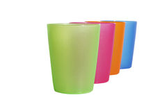 Vier kleurenglas, ondiepe dof Stock Fotografie