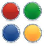 Vier kleurenknopen Royalty-vrije Stock Afbeeldingen