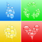 Vier kleurensymbool Stock Afbeelding