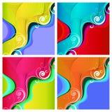 Vier kleurrijke achtergronden Royalty-vrije Stock Fotografie