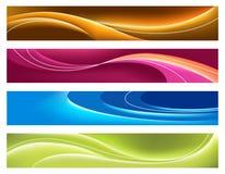 Vier kleurrijke banners stock illustratie