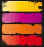 Vier Kleurrijke Banners Grunge Stock Foto
