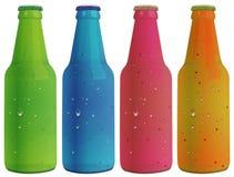 Vier kleurrijke flessen royalty-vrije illustratie