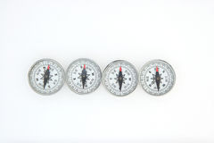 Vier Kompassse Stockfotografie