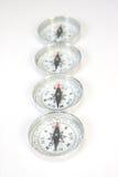 Vier Kompassse Stockfoto