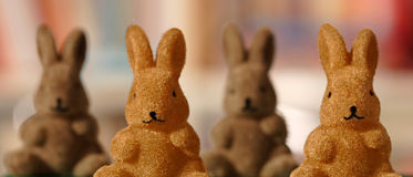 Vier konijntjescijfers Stock Foto