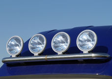 Vier koplampen Stock Fotografie