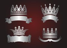 Vier kronen Royalty-vrije Stock Foto's